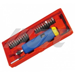 Динамометрическая отвертка 2-10Нм с комплектом бит