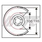 Приспособление для стяжки пружин Ø100-155 мм.( TESLA) 6870B JTC
