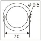 Головка для снятия гайки заднего колеса ISUZU 3.5T 7758 JTC