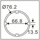 Головка ступичная для передней оси DAF LF45 7760 JTC