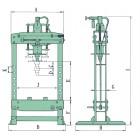 Пресс гидравлический ручной 35 т. SP350A JTC